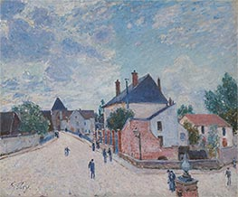 Street in Moret, c.1890 by Alfred Sisley | Painting Reproduction