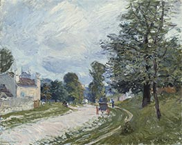A Turn in the Road, 1873 by Alfred Sisley | Painting Reproduction