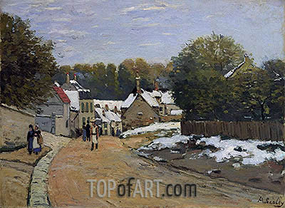 Early Snow at Louveciennes, c.1870/71 | Alfred Sisley| Painting Reproduction