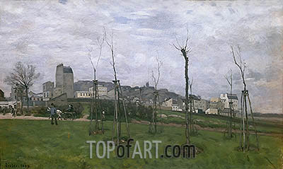 View of Montmartre from the Cite des Fleurs, 1869 | Alfred Sisley | Painting Reproduction