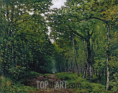 Avenue of Chestnut Trees near La Celle-Saint-Cloud, 1867 | Alfred Sisley | Gemälde Reproduktion
