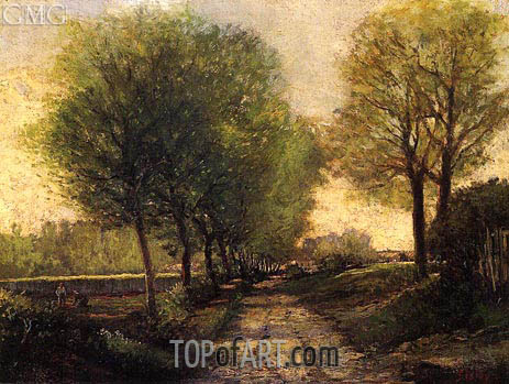 Lane near a Small Town, c.1864/65 | Alfred Sisley | Painting Reproduction