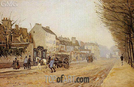 Boulevard Heloise, Argenteuil, 1872 | Alfred Sisley | Painting Reproduction