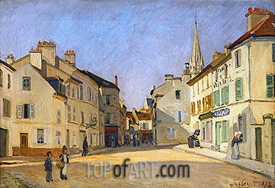 Square in Argenteuil (rue de la Chaussee), 1872 | Alfred Sisley| Painting Reproduction