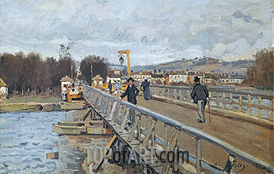 Footbridge at Argenteuil, 1872 | Alfred Sisley| Painting Reproduction
