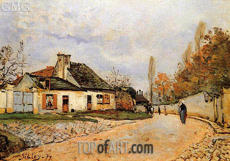 Alfred Sisley | Neighborhood Street in Louveciennes, 1872