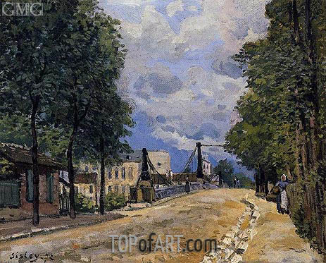 The Road from Gennevilliers, 1872 | Alfred Sisley | Painting Reproduction