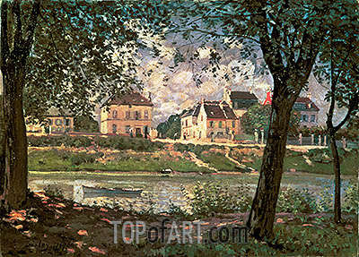Villeneuve-la-Garenne (Village on the Seine), 1872 | Alfred Sisley | Painting Reproduction