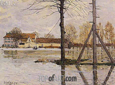 Alfred Sisley | Ferry to the Ile-de-la-Loge, Flood, 1872