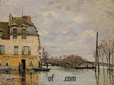 Flood at Port-Marly, 1872 | Alfred Sisley | Gemälde Reproduktion