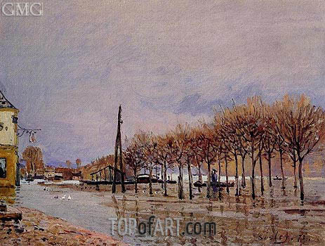 The Flood at Port-Marly, 1872 | Alfred Sisley | Gemälde Reproduktion