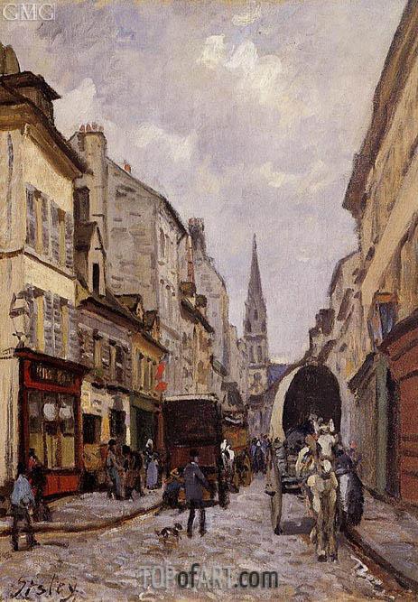 Alfred Sisley | La Grande-Rue, Argenteuil, c.1872