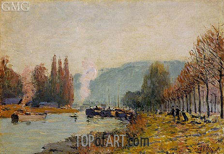 The Seine at Bougival, 1873 | Alfred Sisley | Gemälde Reproduktion