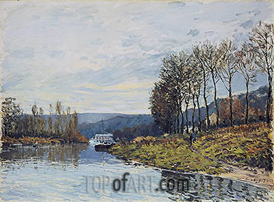 The Seine at Bougival, 1873 | Alfred Sisley| Painting Reproduction