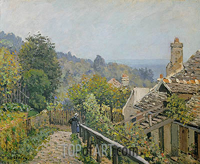Louveciennes or, The Heights at Marly, 1873 | Alfred Sisley| Painting Reproduction