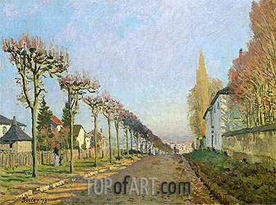 Alfred Sisley | Rue de la Machine, Louveciennes, 1873