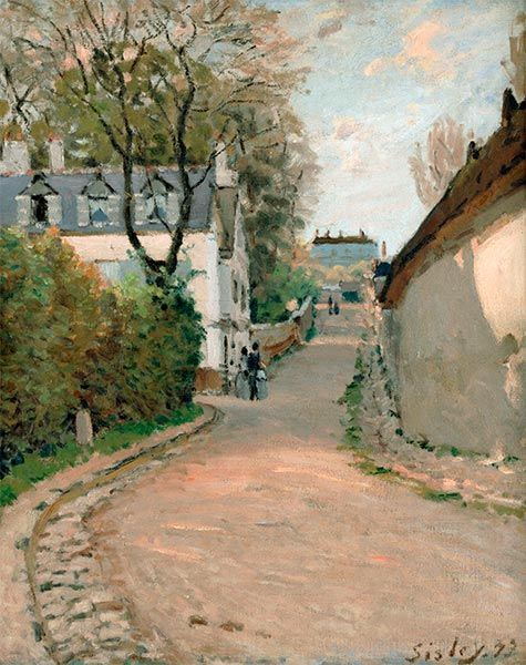 Rue de la Princesse, Louveciennes, 1873 | Alfred Sisley | Painting Reproduction