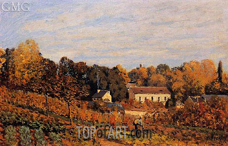 Kitchen Garden at Louveciennes, 1873 | Alfred Sisley | Gemälde Reproduktion