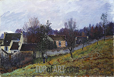 Autumn at Louveciennes, 1873 | Alfred Sisley| Gemälde Reproduktion