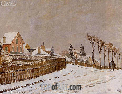 Snow at Louveciennes, 1873 | Alfred Sisley | Gemälde Reproduktion