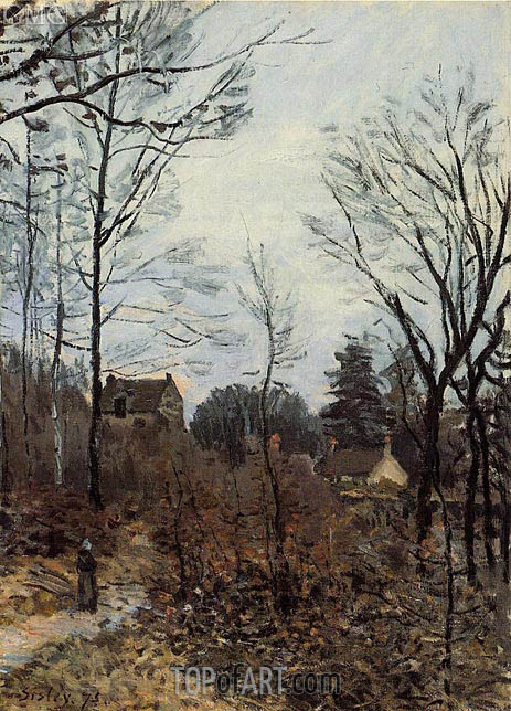 Autumn at Louveciennes, 1873 | Alfred Sisley | Gemälde Reproduktion