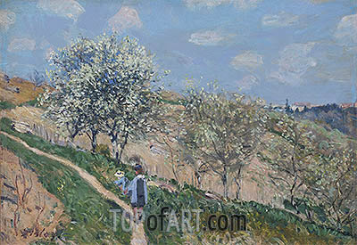 Alfred Sisley | Spring in Bougival, c.1873