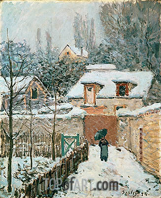 Snow at Louveciennes, 1874 | Alfred Sisley| Painting Reproduction