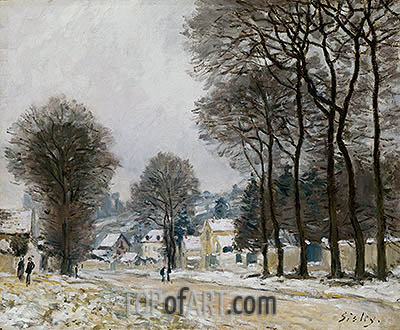 Snow at Louveciennes, c.1874 | Alfred Sisley | Gemälde Reproduktion