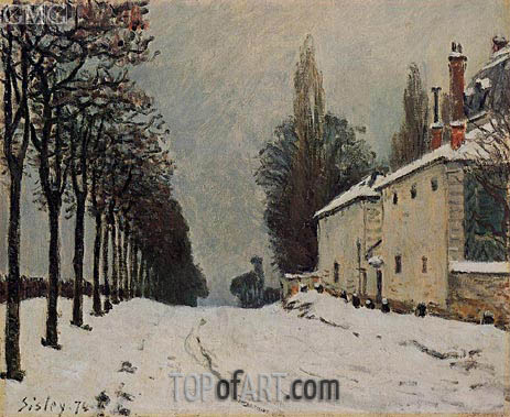 The Road to Louveciennes in Winter, 1874 | Alfred Sisley | Painting Reproduction