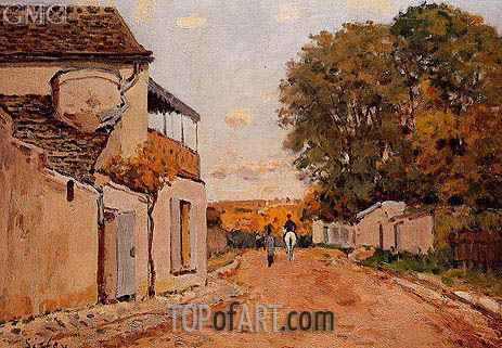 Street in Louveciennes (Rue de la Princesse), 1874 | Alfred Sisley | Painting Reproduction