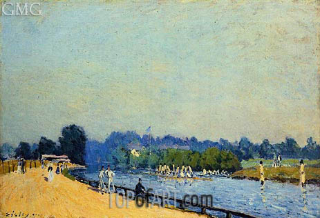 Alfred Sisley | The Road from Hampton Court, 1874