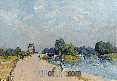The Road to Hampton Court, 1895 | Alfred Sisley| Gemälde Reproduktion