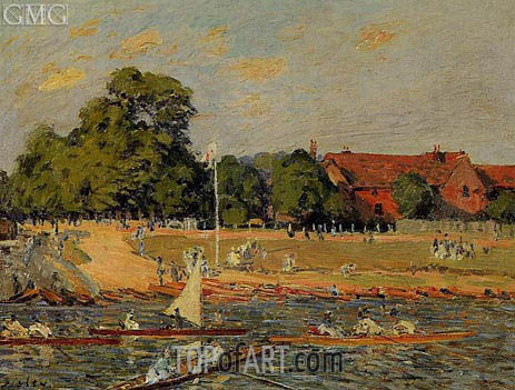 Alfred Sisley | Retatta at Hampton Court, 1874