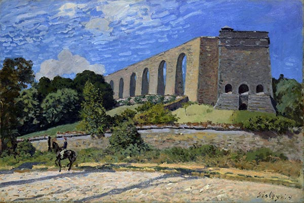 The Aqueduct at Marly, 1874 | Alfred Sisley | Gemälde Reproduktion