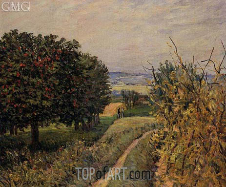 Alfred Sisley | Among the Vines, 1874