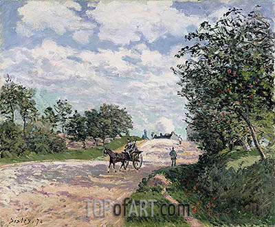 Alfred Sisley | The Road to Nantes at Choisy le Roy, 1874