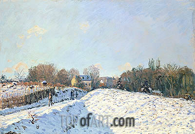 Effect of Snow at Argenteuil, 1874 | Alfred Sisley| Painting Reproduction