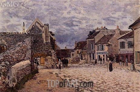 Alfred Sisley | Village Street - Grey Weather, 1874