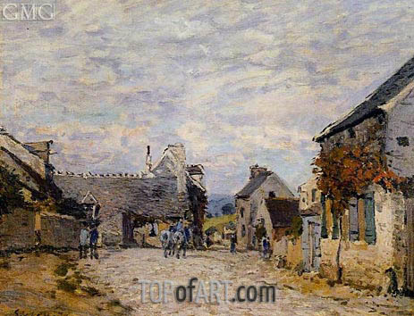 Alfred Sisley | Village Street, Louveciennes, 1874