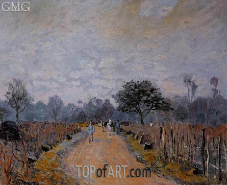 The Road from Prunay to Bougival, 1874 | Alfred Sisley | Painting Reproduction