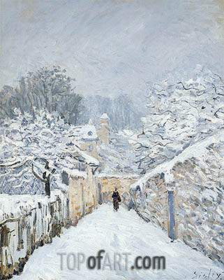 Snow at Louveciennes, 1878 | Alfred Sisley | Painting Reproduction