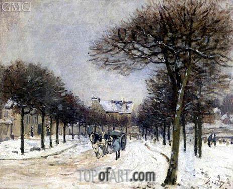 Alfred Sisley | The Road to Saint-Germain at Marly, c.1874/75