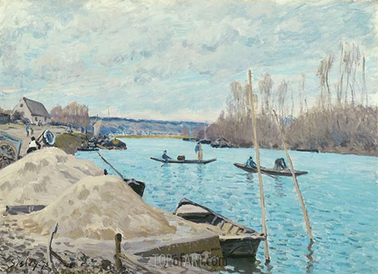 Sand Heaps, 1875 | Alfred Sisley | Gemälde Reproduktion