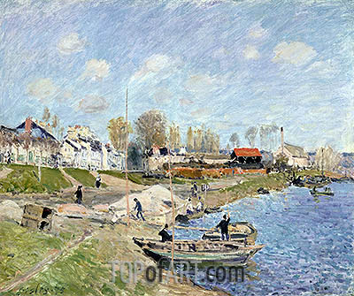 Sand on the Quayside, Port-Marly, 1875 | Alfred Sisley| Painting Reproduction
