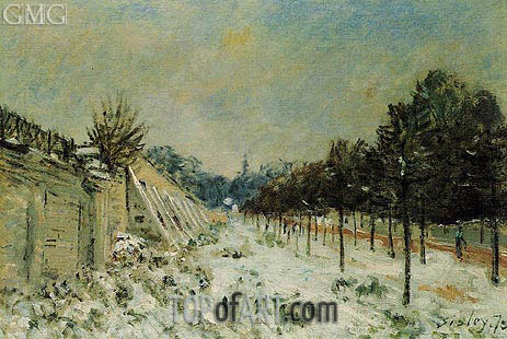 Snow at Marly-le-Roi, 1875 | Alfred Sisley | Painting Reproduction