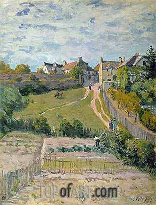 Alfred Sisley | The Rising Path, 1875