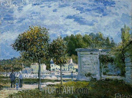 The Watering Place at Marly, 1875 | Alfred Sisley | Painting Reproduction