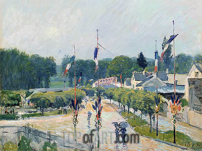 Fourteenth of July at Marly-le-Roi, 1875 | Alfred Sisley | Gemälde Reproduktion