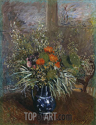 Still Life of Wild Flowers, 1875 | Alfred Sisley| Painting Reproduction