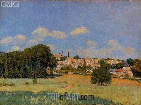 Vue de Saint-Cloud, effet de solei, 1876 | Alfred Sisley | Painting Reproduction